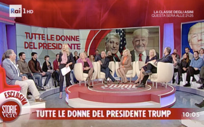 "Renzo appears as guest speaker in Italy's popular morning show, ""Storie Vere"""