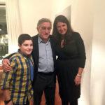 Robert De Niro, Cecilia (Renzo's Sister-in-law), and Mattia at Renzo's Home